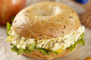 spiced egg salad sandwich