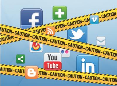 Caution-Social-Media-Danger